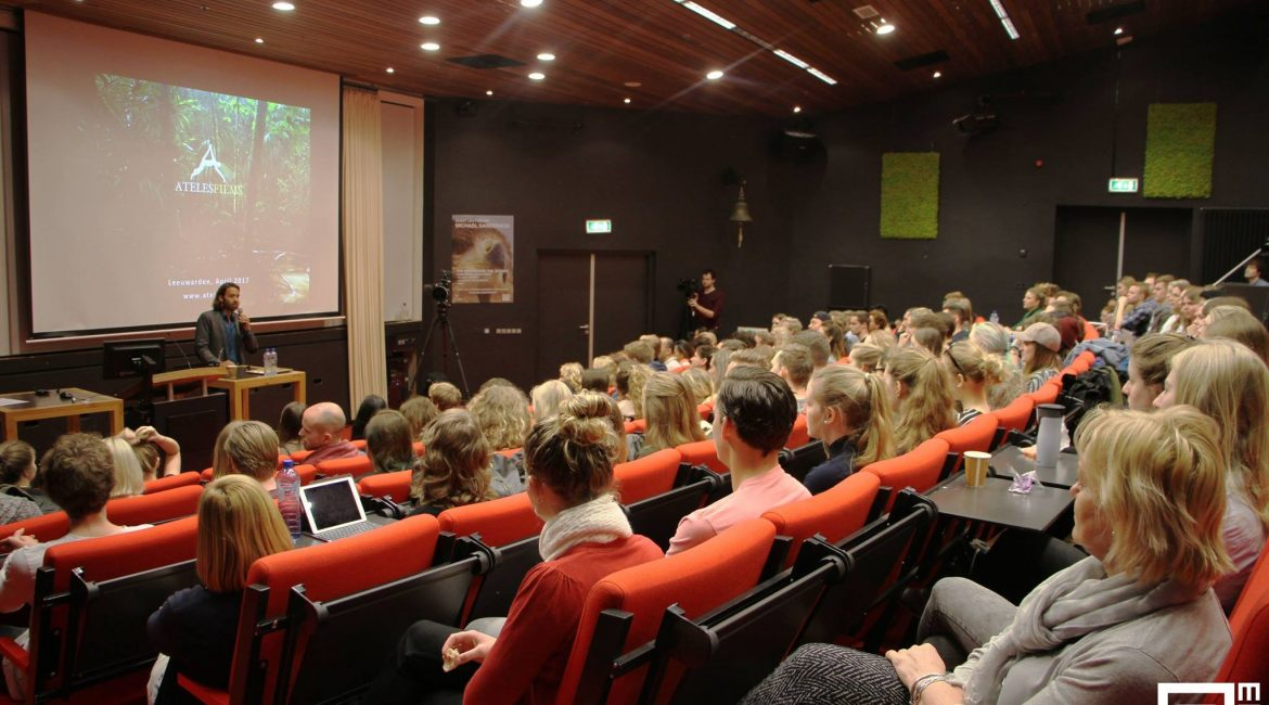 Michael Sanderson as a guest lecture at the Stenden University