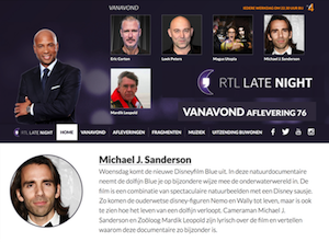Michael Sanderson as a guest on RTL Late Night